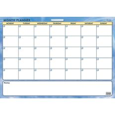 Writeraze Month Card Planner 600 x 420mm Laminated White A2