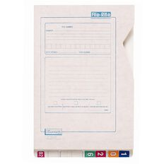 Filecorp Wallet File 2014 40mm Gusset Top Opening White