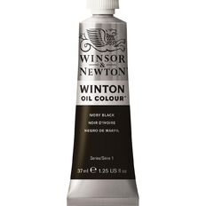 Winsor & Newton Winton Oil Paint 37ml Ivory Black