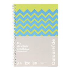 ColourHide Designer Notebook 120 Pages Chevron Yellow A4