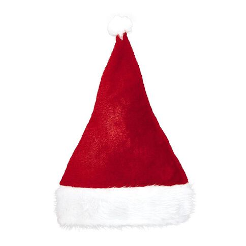 Wonderland Plush Santa Hat Red 30cm