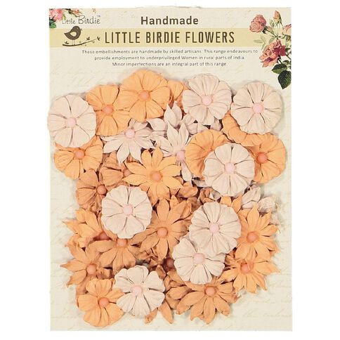 Little Birdie Flowers Gardenia Mini Blooms 48 Piece