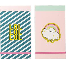 Uniti Fun & Funky Fun Life Notepad 2 Pack
