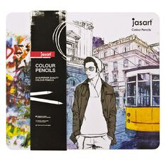 Jasart Coloured Pencils in Tin 24 Pack