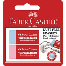 Faber-Castell Eraser Dust Free 2 Pack Assorted