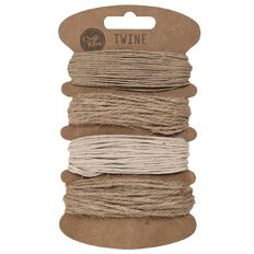 Uniti Twine Assortment Brown 4 Pack