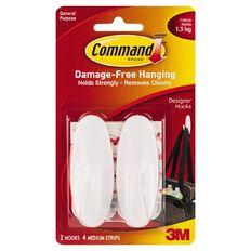 Command Designer Hook Medium White