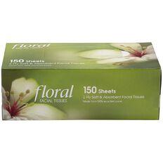 Floral Facial Tissue 150 Sheets x 2 Ply