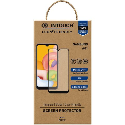 INTOUCH Samsung A01 Glass Screen Protector Clear