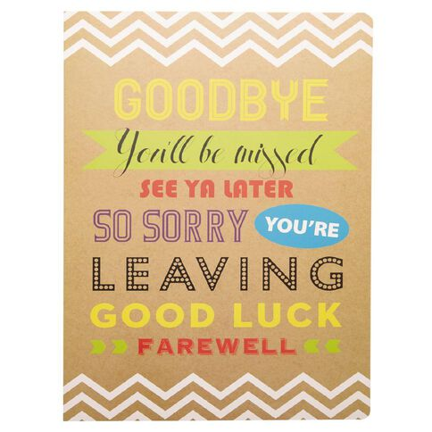Larger than life cards Goodbye Youll be Missed