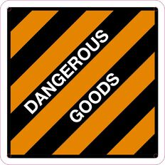 Impact Dangerous Goods Sign Small 300mm x 300mm