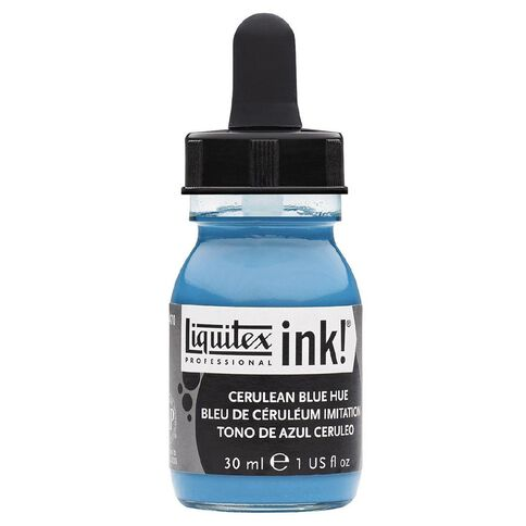 Liquitex Ink 30ml Cerulean Hue Blue