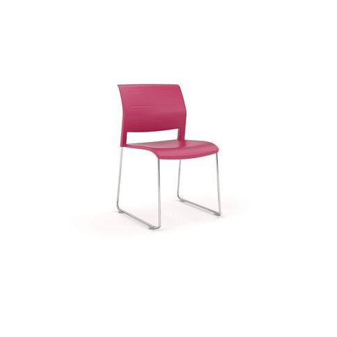 Game Chrome Skid Chair Red
