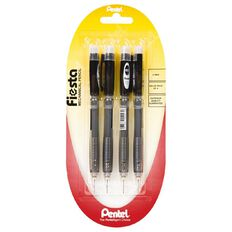 Pentel Pencil Mech Fiesta 0.5mm 4 Pack Black