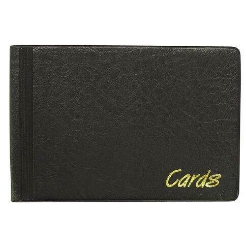 Office Supply Co Business Card Holder 48 Cards Small Black