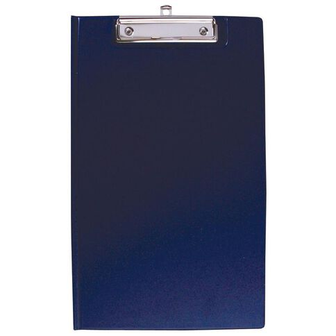 Office Supply Co Foolscap Pvc Double Clipboard Blue