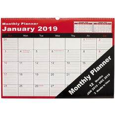 Cumberland Wall Planner 2019 Month to View 530mm x 390mm