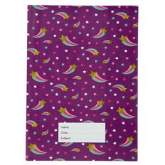 Kookie Star Book Sleeve Purple A4