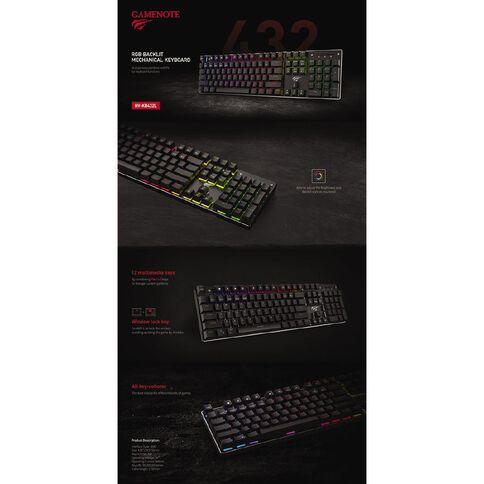Gamenote Mechanical Keyboard KB432L