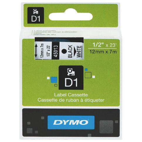 Dymo D1 Label Tape 12mm x 7m