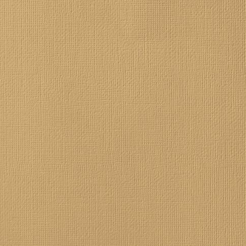 American Crafts Cardstock Textured Kraft Brown 12in x 12in