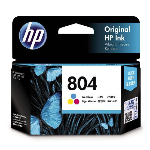 HP Ink Cartridge 804 Tri Colour (165 Pages)