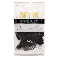 Party Inc Balloons Printed Pirate 25cm 12 Pack