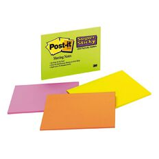 Post-It Super Sticky Notes 203mm x 152mm Assorted