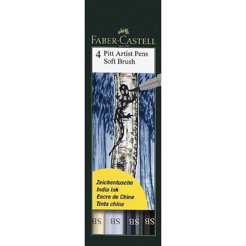 Faber-Castell Pitt Artist Brush Pens Soft 4 Pack