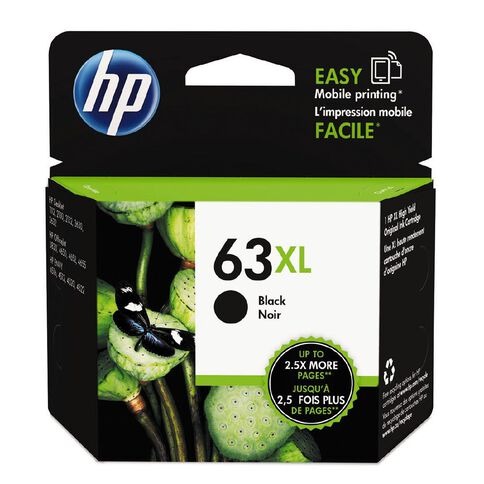 HP Ink 63XL Black (480 Pages)