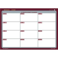 Writeraze Nifty Month Card Planner 245 x 345mm Laminated Purple Light