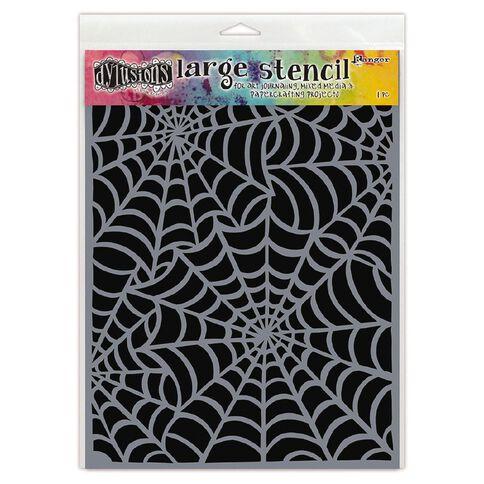 Ranger Dylusions Stencils Cobwebs Large