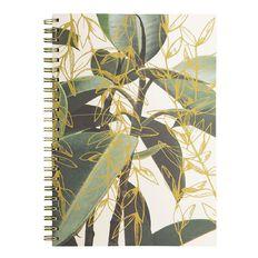 Uniti Platinum Visual Diary Spiral Green Gold Leaf A4