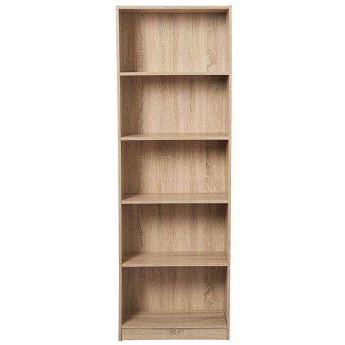 Living & Co Mason Bookcase 5 Tier Oak Look