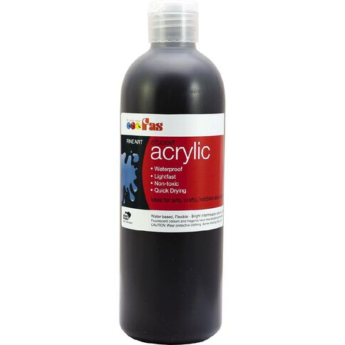 FAS Paint Student Acrylic Black 500ml
