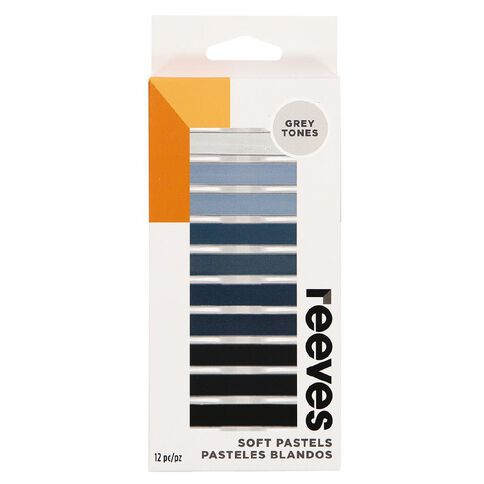 Reeves Soft Pastels Grey 12 Pack