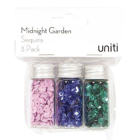 Uniti Midnight Garden Sequins 3 Pack