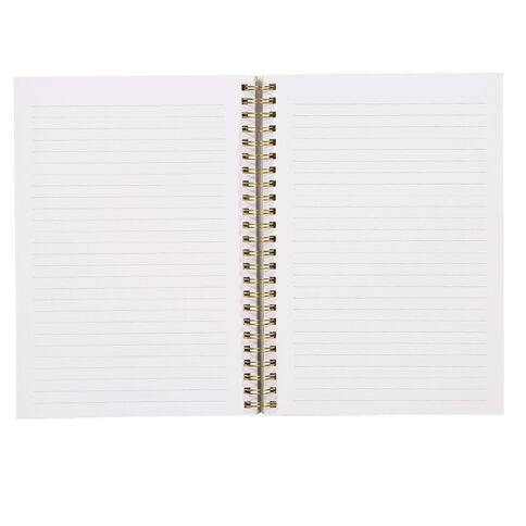 Uniti F&F Soft Spiral Notebook Foil Keep Going Black A5