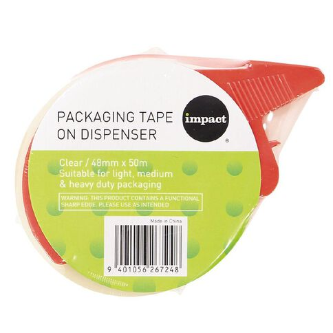 Impact Packaging Tape On Dispenser Clear 48mm x 50m