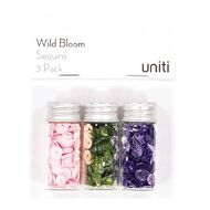 Uniti Wild Bloom Sequins 3 Pack