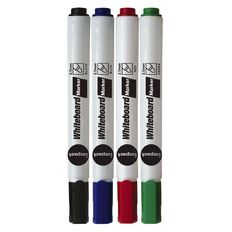 Impact Whiteboard Markers Bullet 4 Pack Assorted