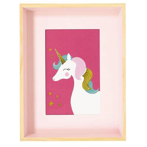Kookie Unicorn Photo Frame Pink