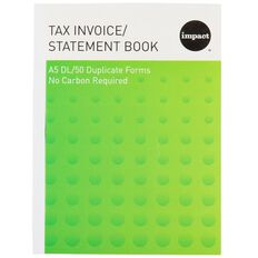 Impact Invoice/Statement Book A5Dl Ncr 50 Forms Green