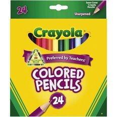 Crayola Coloured Pencils 24 Pack Multi-Coloured