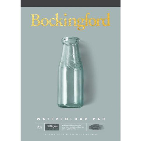Bockingford Watercolour Pad 300gsm 10 Leaf A4 Yellow A4