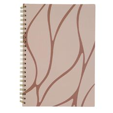 Uniti F&F Spiral Hardcover Notebook Beige With Brown Lines Lines A4