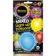 Illooms Light Up Balloons Multi-Coloured 5 Pack