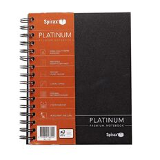 Spirax Notebook 401 Platinum Black A5