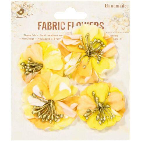 Little Birdie Fabric Flowers Vista Melon Blonde 4 Piece