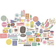 Rosie's Studio Lets Get Together Cardstock Diecuts 126 Pack Mix
